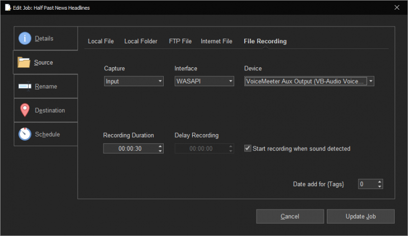 FileCopy Audio Recording