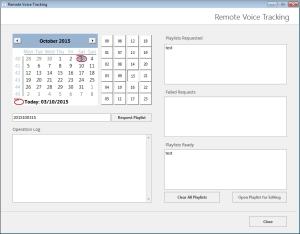 PlayoutONE Remote Voice Tracker